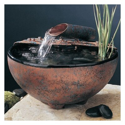 Ceramic Nature Bowl Tabletop Fountain Finish: Antique Copper Patina, Fogger: Small, Metal Stands: No Stand