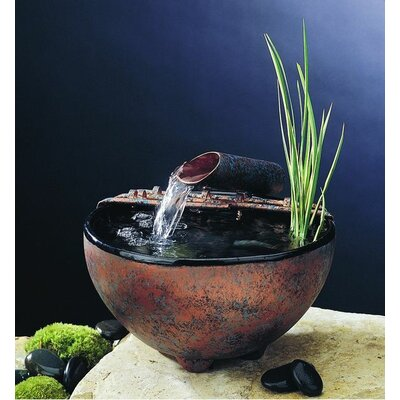 Ceramic Nature Bowl Tabletop Fountain Finish: Black, Fogger: None, Metal Stands: No Stand