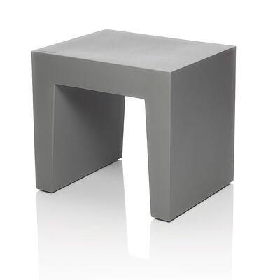 Concrete Accent Stool Color: Gray