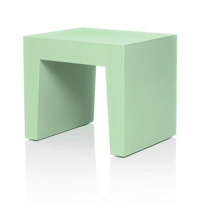 Concrete Accent Stool Color: Green