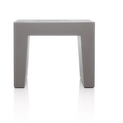 Concrete Accent Stool Color: Taupe