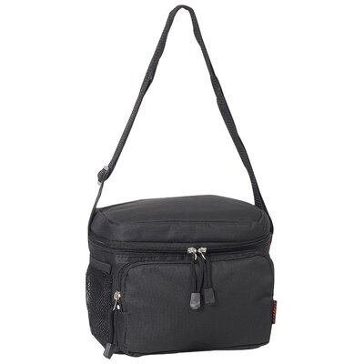 6 Can Insulated Bag Cooler Color: Black