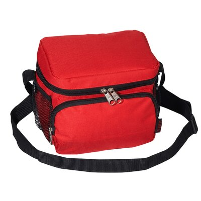 6 Can Insulated Bag Cooler Color: Red