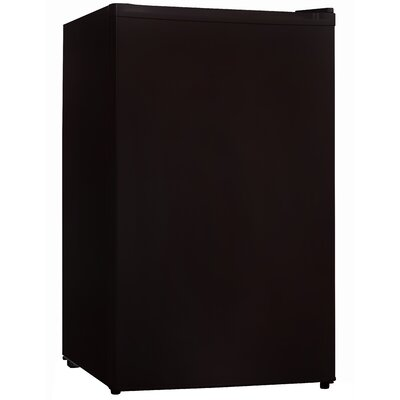 3.3 cu. ft. Compact Refrigerator with Freezer Color: Black