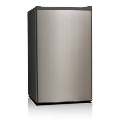 3.3 cu. ft. Compact Refrigerator with Freezer Color: Stainless Steel
