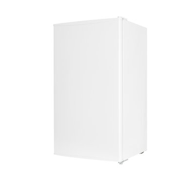 3.3 cu. ft. Compact Refrigerator with Freezer Color: White