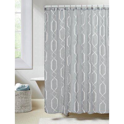 Arcadia Shower Curtain Color: Gray