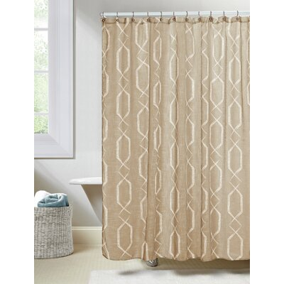 Arcadia Shower Curtain Color: Taupe