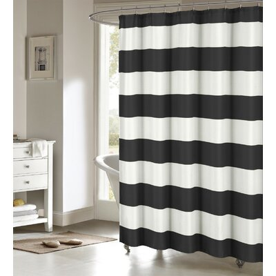 Nieman Shower Curtain Color: Black/White