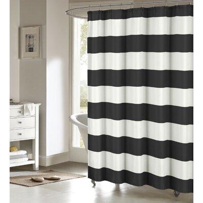Nieman Shower Curtain Color: Black/White