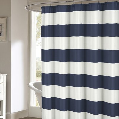Nieman Shower Curtain Color: Navy