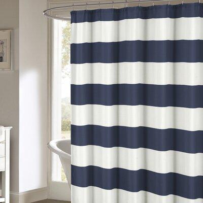 Nieman Shower Curtain Color: Navy