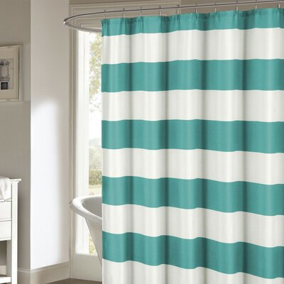 Nieman Shower Curtain Color: Teal