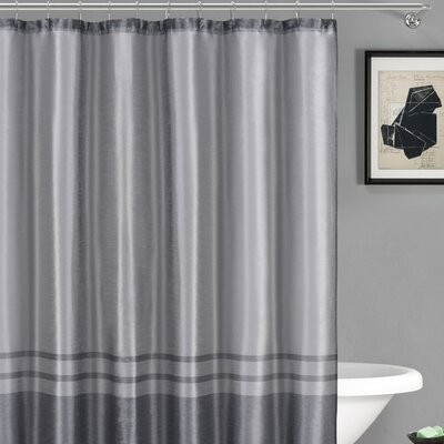 Alleyton Shower Curtain Color: Silver