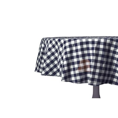 "Kensington Checks Tablecloth Color: Navy, Size: 54"" W x 72"" L"