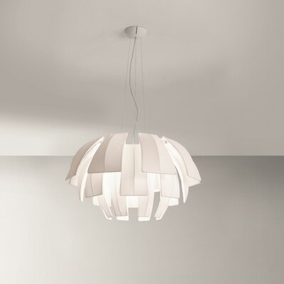Plumage 3-Light Novelty Chandelier Shade Color: Brown