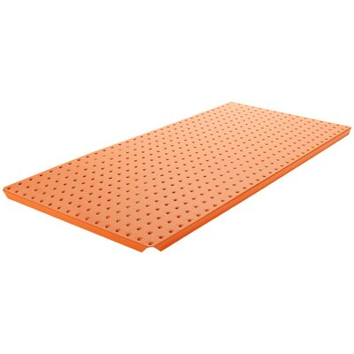 Alligator Board Powder Coated Metal Pegboard Panels with Flange in Orange