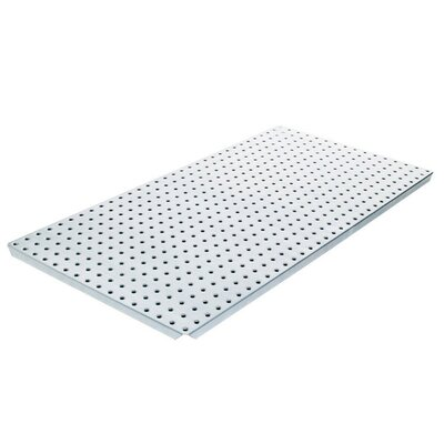 Alligator Board Powder Coated Metal Pegboard Panels with Flange in Silver