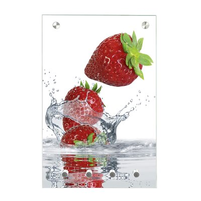 Contento Magnet-Schlüsseltafel Erdbeere