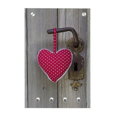 Contento Magnet-Schlüsseltafel Stoffherz