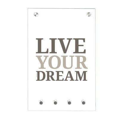 Contento Magnet-Schlüsseltafel Live your…
