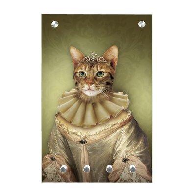 Contento Magnet-Schlüsseltafel Katzenprinzessin