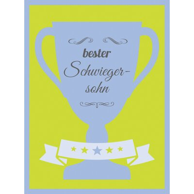 "Contento Glasbild ""Bester Schwiegersohn"", Memorabilien"