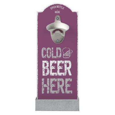 Contento Wandflaschenöffner Cold Beer Here