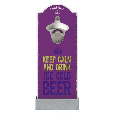 Contento Wandflaschenöffner Keep Calm And Drink Ice Cold Beer