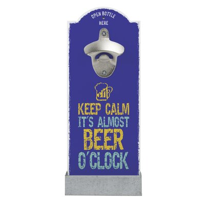 Contento Wandflaschenöffner Keep Calm it's Almost Beer O'Clock