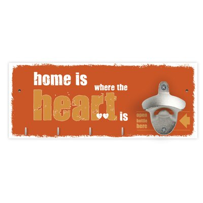 Contento Wandflaschenöffner Home is Where The Heart Is