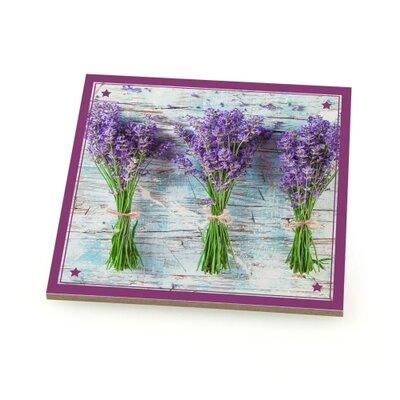 Contento 4-tlg. Untersetzer-Set Lavendel