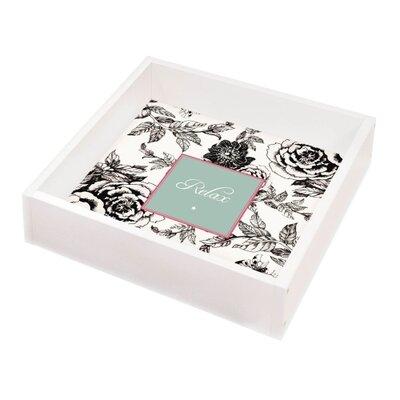 Contento Tablett Blumen