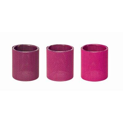 "Contento 3-tlg. Teelichtgläserset ""Marah"" in Pink"