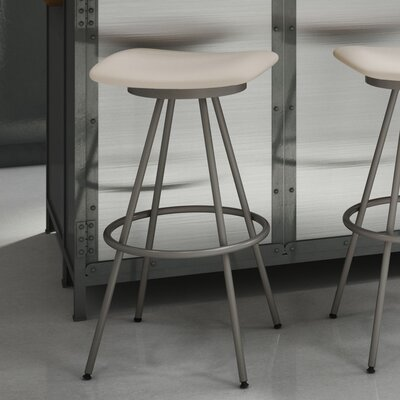 "Beacon 30"" Swivel Bar Stool Finish: Matte Light Grey/Beige"