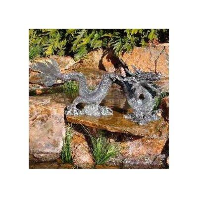 Metal Creeping Dragon Fountain