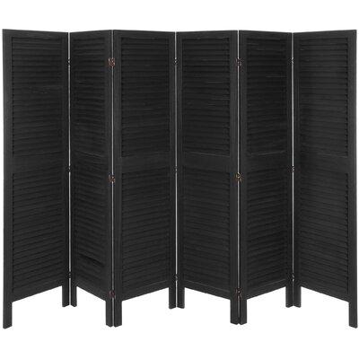 Ares 6 Panel Room Divider Color: Black