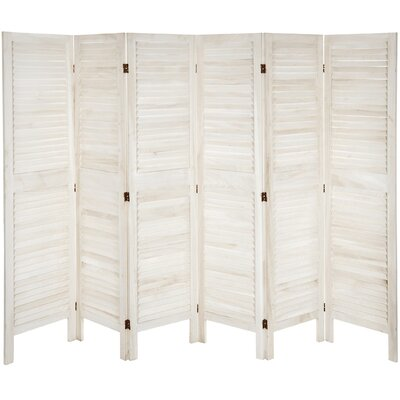 Ares 6 Panel Room Divider Color: White