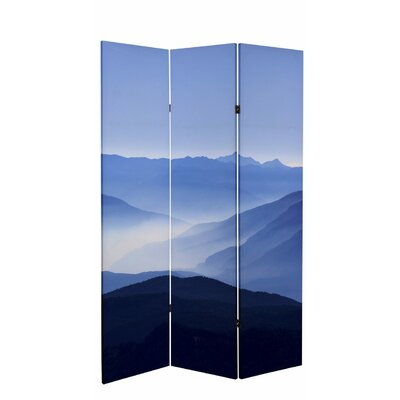 Misty Mountain Canvas 3 Panel Room Divider