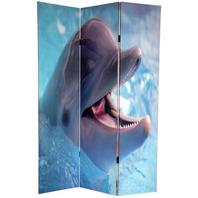 Dolphin and Clownfish 3 Panel Room Divider