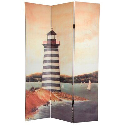Fiala Lighthouses 3 Panel Room Divider