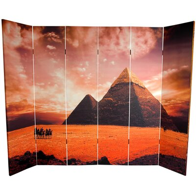 Egyptian Pyramid 6 Panel Room Divider