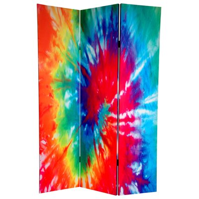 Tie Dye 3 Panel Room Divider