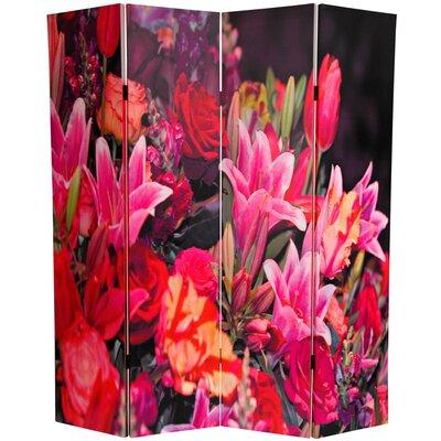 Spring Flowers 4 Panel Room Divider