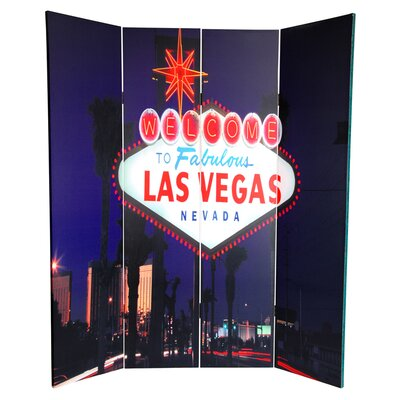 Las Vegas Poker 4 Panel Room Divider