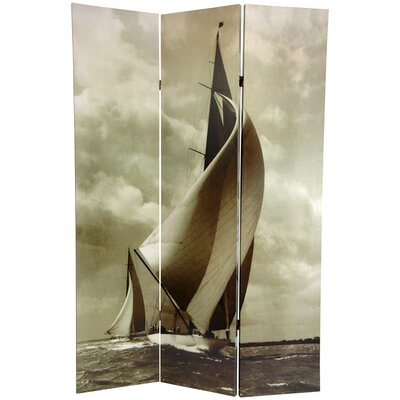 Sailboat 3 Panel Room Divider
