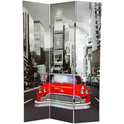 New York City Taxi 3 Panel Room Divider