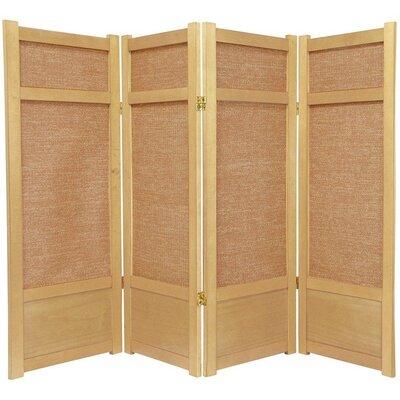 Clarke Shoji 4 Panel Room Divider Color: Natural