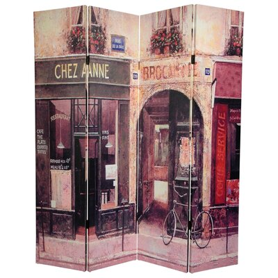 French Cafe 4 Panel Room Divider