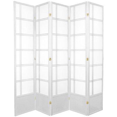 Marla Room Divider Number of Panels: 5 Panels, Color: White
